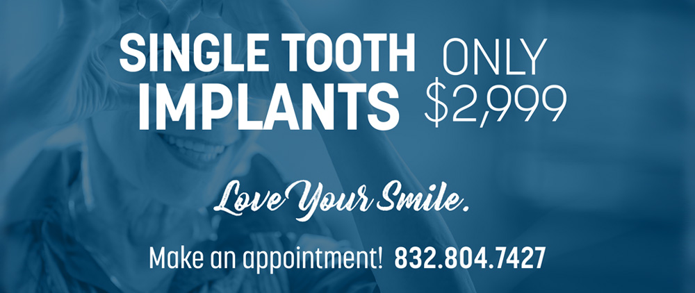 single tooth implants special offer in beaumont texas